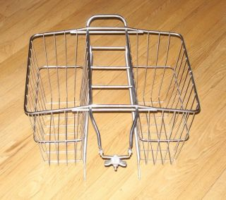 Wald 520 Wire Bicycle Double Rear Carrier Basket