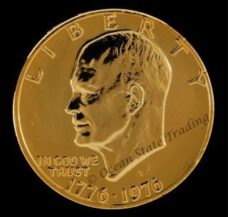 1776 1976 24 KT Gold Plated Bicentennial Coin Set 3 Coins