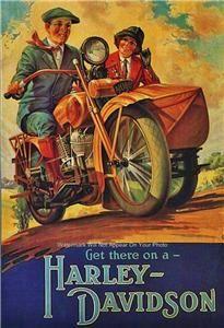 Ad Harley Davidson Motorcycle Sidecar V Twin American Bike