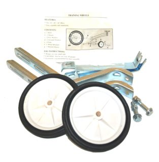 Bicycle Training Wheels for 16 20 Bikes White Wheels