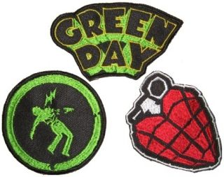 Set Green Day Embroidered Patches Billie Joe Armstrong