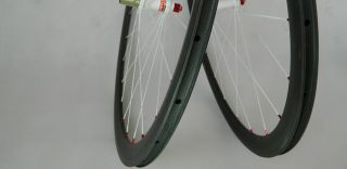 carbon fiber 38mm wheels road bike wheelset 700c clincher only 1297g