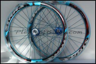 Fixie Single Speed Bike Wheelset Wheels Rim Rims Blue 614104