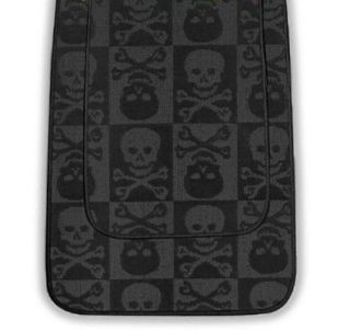 Piece Bathroom Rug Bath Mat Set Black Skull Crossbones