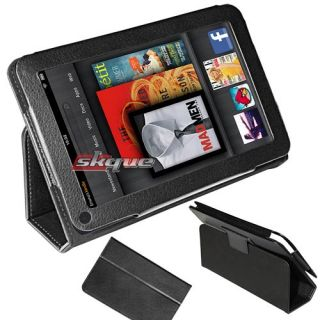 black book style leather case cover w/ stand for  kindle fire