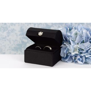 Black Satin Ring Box Wedding Ring Pillow Alternative