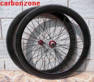56mm 700c Carbon Road TT Bike Tubular Wheels Wheelsets