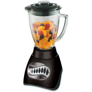 BFP 6 Cup Glass Jar 12 Speed Blender Plus 3 Cup Food Processor, Black