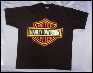 HARLEY DAVIDSON BIG BAR SHIELD TEE Size XL 3 color Bar Shield Made in