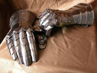 Medieval Armor Gloves Gauntlets SCA LARP Articulated