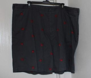 oak hill gray w red crabs shorts 56 new