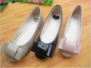 Lovely Women Shoes Big Bow Patent Glossy Walking Ballet Flats Slide