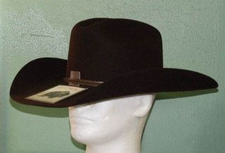 Stetson 4X Buffalo Felt Big Flats Cowboy Western Hat