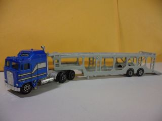 Yatming Tractor Trailer Big Rig Toy Truck Car Carrier Holds Matchbox