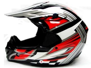TMS RED BLACK DIRT BIKE OFF ROAD MOTOCROSS MX HELMET OFF ROAD XL