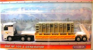 matchbox big rig semi 9 daf xf 105 generator white