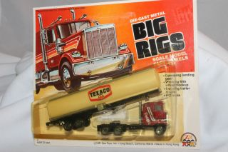 Zee Toys Big Rigs Texaco Gasoline Semi Truck Mint on Card