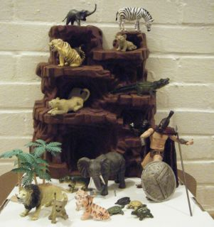 Big Toys To Grow On Jungle Adventures Animal Figure Set Safari Zoo