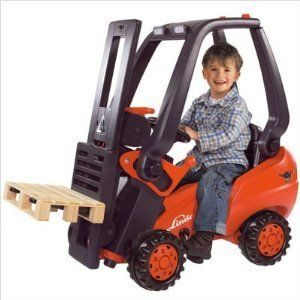 Big Toys Kids Ride on Working Forklift Truck Indoor Outdoor Pedal Car