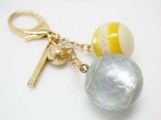 Vuitton Charm Key Ring Bijou Mini Orchid Used