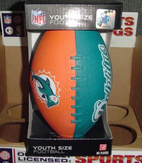 MIAMI DOLPHINS NFL YOUTH big kids SIZE Football RUBBER 2 TONE Team