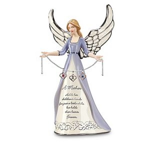 Mothers Heart Birthstone Charm Angel Figurine Personalized Gift for