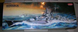 kangnam 1 600 bismarck german battleship model kit unassembled