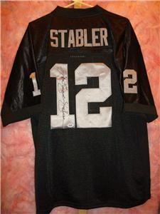 Ken Stabler Signed Oakland Raiders Jersey PSA DNA Authentic Super Bowl