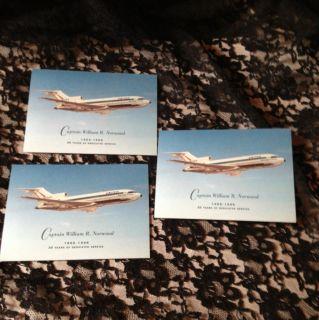 United Airlines Postcard Captain William R Norwood Boring 727