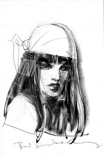 Sienkiewicz Bill Elektra Hard Sketch Original Art