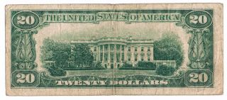 1934 $20 Bill The Federal Reserve Bank of New York Note Twenty Dollar