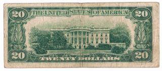 1934 $20 Bill The Federal Reserve Bank of New York Note Twenty Dollar