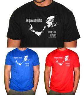 George Carlin T Shirt Bill Hicks Religion bullshit NWO