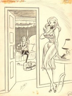 Gag Art from The Late 50s Signed Original Art by Bill Ward