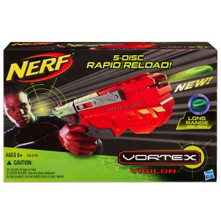 NERF VORTEX VIGILON 5 DISC INCLUDED RAPID RELOAD FIRE BLASTER GUN XLR