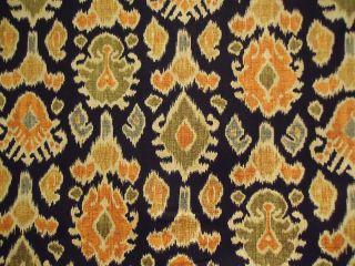 Mill Creek Namaste Graphite Black Ikat Print Fabric