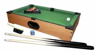 mini pool table includes balls 2 cues table brush chalk size 12 x 20