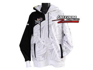 KTM Kini Red Bull redbull Black N White Hoodie Full Zip Hooded
