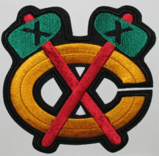 CHICAGO BLACKHAWKS NHL HOCKEY TOMAHAWK JERSEY SHOULDER PATCH