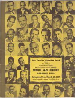BILLIE HOLIDAY MILES DAVIS ELLA FITZGERALD 1947 Carnegie Hall Concert