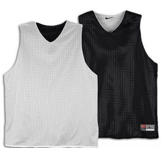 Nike Black Reversible Basketball Jersey Practice Mesh Large