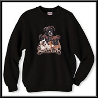 Boxer Puppies Bone Uncropped Dog Sweatshirt s 2X 3X 4X