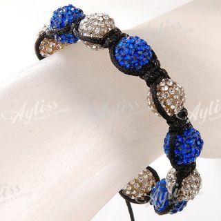 Crystal Disco Ball Beads Macrame Hip Hop Bracelet Bling Charms