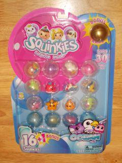 2012 Blip Toys SQUINKIES Series 30 OCEAN PACK 16 Figures +1 Bonus Rare