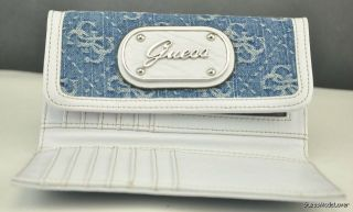 Brand New GUESS Ladies Sheer Bliss Blue Wallet Purse Wallet USA