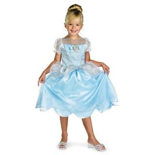 Disney Girls CINDERELLA costume dress up Size 4 6 NEW Blue Gown