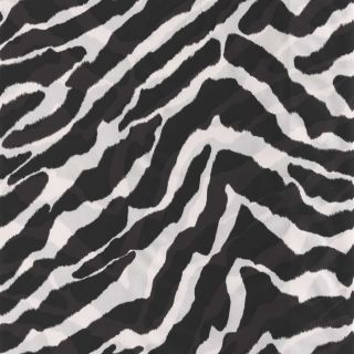 Black / White   203523   Zebra Print Savannah Wallpaper
