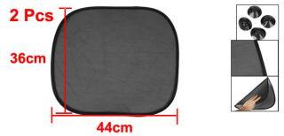 Pcs Black Side Window Mesh Sun Shade w Suction Base for Car Auto