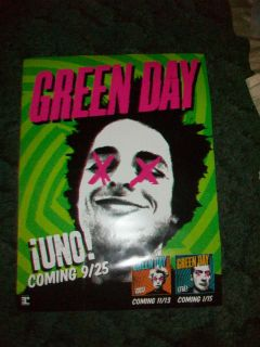 Green Day Uno Poster Billie Joe Armstrong 18 by 24 Brand New Promo NR