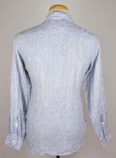 Billy Reid Long Short Sleeve Linen Striped Casual Scout Shirt US M EU